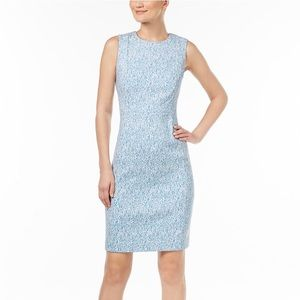 Zigzag Jacquard Sheath Dress